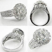 Load image into Gallery viewer, Exquisit 925 Sterling Silver Diamond Ring High Quality