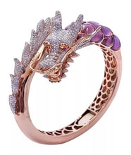 Load image into Gallery viewer, Exquisite 585 Rosen Gold Drachen Damen Ring