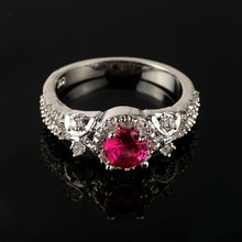 Load image into Gallery viewer, Exquisite 925 Silver Natural Gemstones Ruby Ring