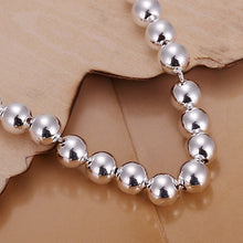 Load image into Gallery viewer, 925 Silver Beads Chain Bracelet Bangle-Silver