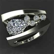 Load image into Gallery viewer, Weisser 925 Silber Topas Damen Ring im edlen Design
