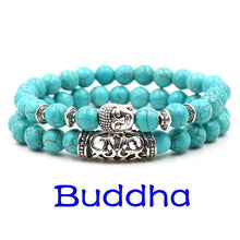 Load image into Gallery viewer, Edles Türkis Buddha Damen Armband