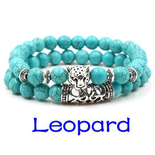 Load image into Gallery viewer, Turquoise Stone Buddha Bracelets & Bangles Trendy Natural Stone Beaded Bracelet