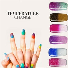 Load image into Gallery viewer, Temperature Color Changing Water-based Manicure Varnish Thermal Nail Polish