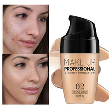 Load image into Gallery viewer, Long Lasting Waterproof Face Brightening Foundation Cream Full Coverage Liquid Concealer
