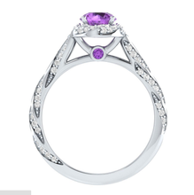 Load image into Gallery viewer, Exquisiter Damen Ring 925 Silber mit Amethyst Stein