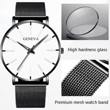 Load image into Gallery viewer, Elegante Herren Stainless Steel Quarz Business Armband Uhr