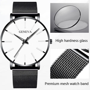 Elegante Herren Stainless Steel Quarz Business Armband Uhr