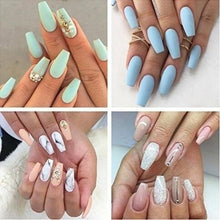 Load image into Gallery viewer, Artificial False Fake Nails Coffin Nails Tips Nail Art Tool Arcylic Package With Box