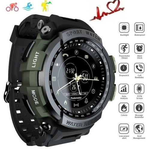 New Sport Multi Language Smart Watch 5ATM Waterproof Bluetooth Call Reminder