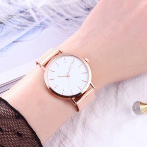Luxury Casual Mesh Stainless Steel Watches for Women