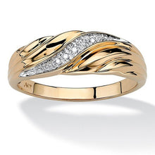 Load image into Gallery viewer, Exquisiter 925 Sterling Silber / 750 Gold Damen Ring