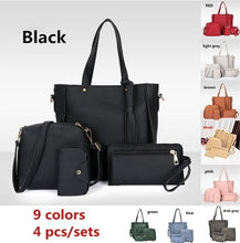 Load image into Gallery viewer, 4Pcs Women Leather Handbag Lady Shoulder Bags Tote Purse Messenger Satchel Set