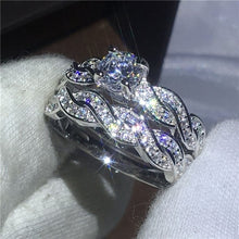 Load image into Gallery viewer, Shining Womens 925 Sterling Silver 1.5ct Diamond Ring