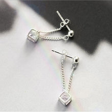 Load image into Gallery viewer, 925 Sterling Silver Hollow Magic Cube Pendant Earrings