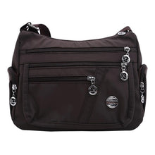 Load image into Gallery viewer, Multi Pocket Shoulder Bag Nylon Waterproof Travel Purses and Handbags
