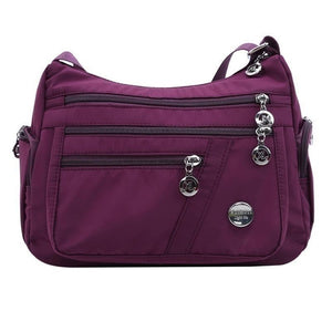 Multi Pocket Shoulder Bag Nylon Waterproof Travel Purses and Handbags