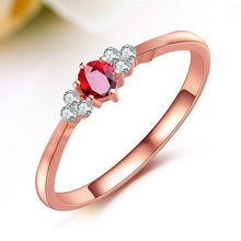Load image into Gallery viewer, 18k Rose Gold high quality Ruby Ring for woman
