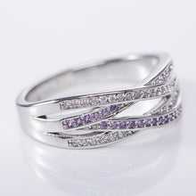 Load image into Gallery viewer, Eleganter 925 Sterling Silber Zirkon Damen Ring