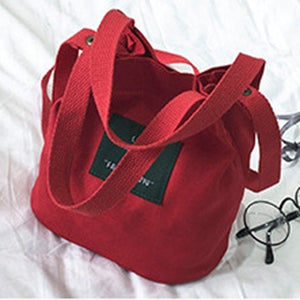 Women´s Canvas Shoulder Bag Outdoor Girls Crossbody Tote Handbag