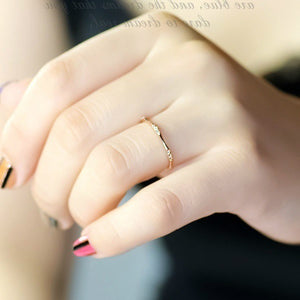 Eleganter 585 Gold beschichteter Damen Zirkon Ring