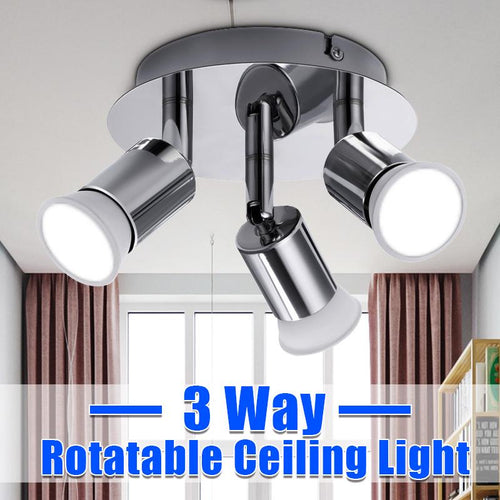 100V-220V 3 Way Rotatable Ceiling Light Pendant LED Lights Spotlight Modern Wide Lighting Kitchen