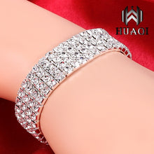 Load image into Gallery viewer, 925 Sterling Silver Exquisite Diamond Charm Bracelet
