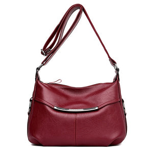 Fashion Patchwork Genuine Leather Women Handbags Shoulder Bags