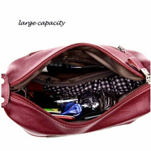 Load image into Gallery viewer, Fashion Patchwork Genuine Leather Women Handbags Shoulder Bags