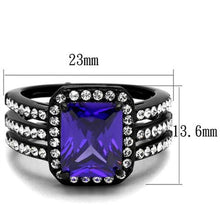 Load image into Gallery viewer, 4.95 Ct Emerald Cut Amethyst Cz Stainless Steel Engagement Ring
