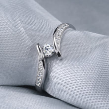 Load image into Gallery viewer, Women Everydaywear ClassicStyle 925 Sterling Silver Diamond Ring