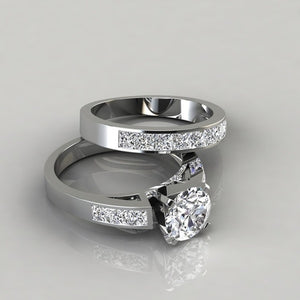 2 Pieces / Set Charm 925 Sterling Silver Natural White Sapphire Diamond Ring