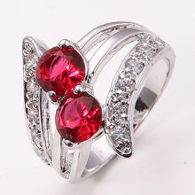Load image into Gallery viewer, 14K Solid Gold GF Ruby Women's Wedding Jewelry Ring