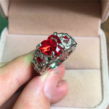 Load image into Gallery viewer, Gorgeous 925 Silver Heart Cut Ruby Women Ring