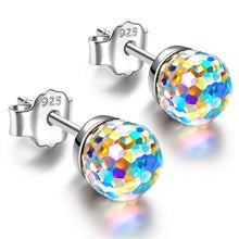 Load image into Gallery viewer, 925 Sterling Silver Earrings Disco Ball Crystal Stud Earrings
