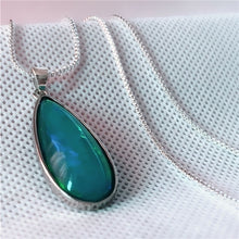 Load image into Gallery viewer, Exquisite 925 Sterling Silber Natur Kristall Mondstein Damen Kette