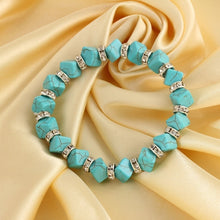 Load image into Gallery viewer, New Classical Vintage Turquoise bracelet Cute Pendant Tibet Silver Natural Stone