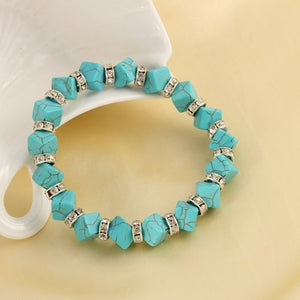 New Classical Vintage Turquoise bracelet Cute Pendant Tibet Silver Natural Stone