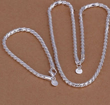 Load image into Gallery viewer, Elegantes 925 Sterling Silber Damen Kette und Armband Set