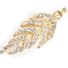 Load image into Gallery viewer, Charming Crystal Jeweled Full Rhinestone Leaf Shape Navel Belly Ring Piercing