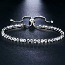Load image into Gallery viewer, Luxury 925 Sterling Silver Shining Cubic Zircon Diamond Adjustable Bracelet