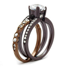 Load image into Gallery viewer, Luxury 2.75 Ct Round Cut Cz Chocolate Stainless Steel Ring Set