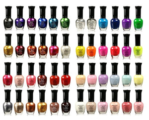 48 Pieces Rainbow Colors Glitter Nail Polish Lacquer Set + 3 Scented Nail Polsih Remover