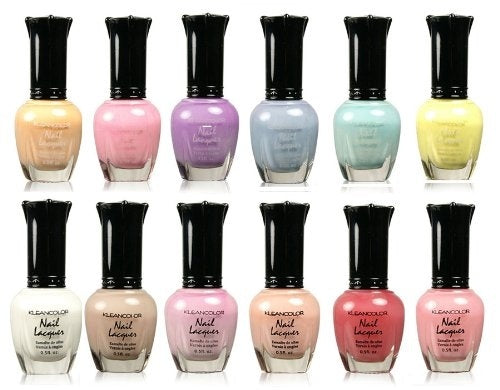 Kleancolor Nail Polish - Beautiful Assorted Pastel full 12pc Set