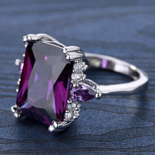 Load image into Gallery viewer, Natural 6.83CT Purple Amethyst 925 Sterlng Silver Ring