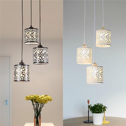 1/3 Heads Flower Petal Ceiling Light LED Pendant Lamp Chandelier For Dining Living Room