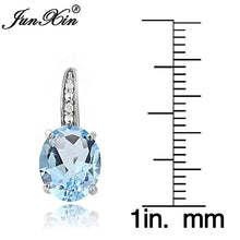 Load image into Gallery viewer, Junxin Exclusive 925 Silver Nature Aquamarine Damen Ohrringe