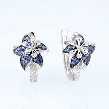 Load image into Gallery viewer, Exquisite 925 Sterling Silver Natural Gemstone Flower Earrings