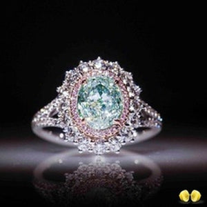 Sparking Emerald Ring with 925 Sterling Silver and Natural Gemstone for Women