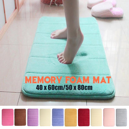 50 / 80 cm Memory Foam Mat Absorbent Pad Non-Slip Rugs Bathroom Shower Bath Mats Carpet